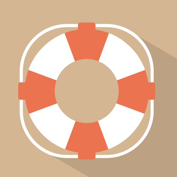 icon with life saver flotation device