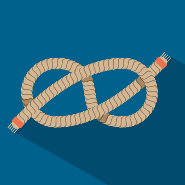 icon with boat tyimg rope