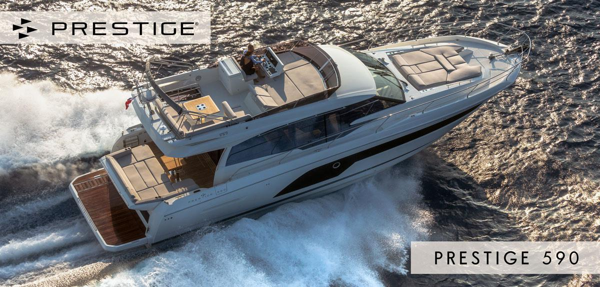 Review of the new Prestige 590 yacht