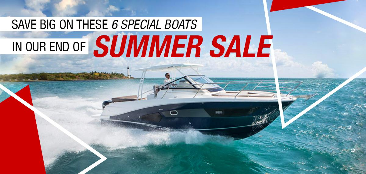 Save Big on these 6 Special Boats in our End of Summer Sale