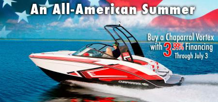 Buy a new Chaparral before July 4 and save