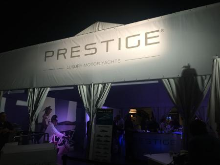 view Prestige Yachts 630 Launch Party at FLIBS 2016